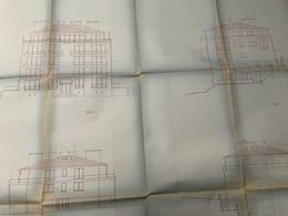 3 Plans D' Architecte , L'un Fait 105x68 Cm , Les Autres : 84x69 Cm. ( Non Datés, Années 40/50) - Architecture