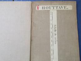 Stafkaart Houtave - 1871 - Vlissegem Stalhille Jabbeke Varsenare Zuienkerke - Topographical Maps