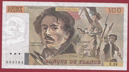 """100 Francs """"Delacroix"""" 1980----ALPH. E.39-- DANS L 'ETAT - 100 F 1978-1995 ''Delacroix''"""