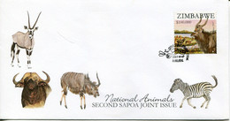 Zimbabwe Mi# 894 Used On Official FDC  - Fauna Kudu - Zimbabwe (1980-...)