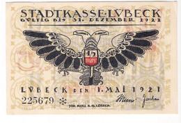 Deutschland Notgeld 50 Pfennig Mehl831.2 LUBECK /70M/ - [11] Emissioni Locali