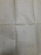 Plan D' Architecte : Immeuble à Usage Locatif, Rue De Pontoise, Paris V, Plan Du Rez-de-chaussée (71x53 Cm - 1931 - éche - Architecture