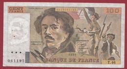 """100 Francs """"Delacroix"""" 1981----ALPH. T.46-- DANS L 'ETAT - 100 F 1978-1995 ''Delacroix''"""
