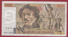 "100 Francs ""Delacroix"" 1981----ALPH. T.46-- DANS L 'ETAT - 1962-1997 ''Francs''"