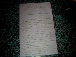 Vieux Papier Calligraphie Lettre Manuscrite De 1879 (correspondance ) à Voir Ou étude - Andere Sammlungen