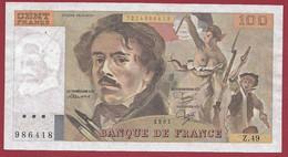 """100 Francs """"Delacroix"""" 1981----ALPH. Z.49-- DANS L 'ETAT - 100 F 1978-1995 ''Delacroix''"""