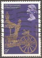 Grande Bretagne - 1978 - Couronnement D'Elizabeth – Carrosse D'apparat Doré - YT 864 Oblitéré - Usati