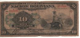 BOLIVIA  10 Bolivianos  P107    Dated   La Paz 11 De Mayo 1911   ( Mercury ) - Bolivia