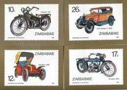 Zimbabwe Mi# 350-5 Used On Official Maxicards - Transport Cars - Zimbabwe (1980-...)
