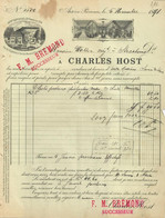 Facture Ancienne 1891 - Charles HOST - AIX-en-PROVENCE - Fruits Secs -1891 /F53 - 1800 – 1899