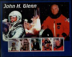 GUYANA 1999 SPACE JOHN H. GLENN MINI SHEET MI No 6615-9 MNH VF!! - Espace