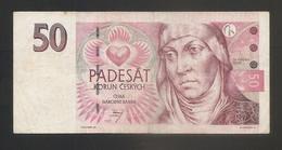 Rep. Ceca - Banconota Circolata Da 50 Corone P-17b - 1997 #18 - Repubblica Ceca