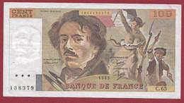 """100 Francs """"Delacroix"""" 1983----ALPH. C.65-- DANS L 'ETAT - 100 F 1978-1995 ''Delacroix''"""