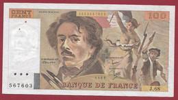 """100 Francs """"Delacroix"""" 1983----ALPH. J.68-- DANS L 'ETAT - 100 F 1978-1995 ''Delacroix''"""