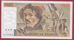 """100 Francs """"Delacroix"""" 1983----ALPH. G.69-- DANS L 'ETAT - 100 F 1978-1995 ''Delacroix''"""