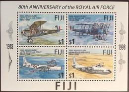 Fiji 1998 RAF Royal Airforce Anniversary Aircraft Aviation Minisheet MNH - Fiji (1970-...)