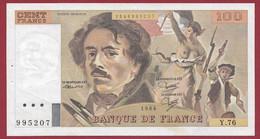 "100 Francs ""Delacroix"" 1984----ALPH. Y.76-- DANS L 'ETAT - 1962-1997 ''Francs''"
