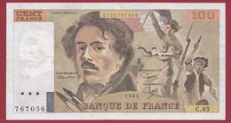 """100 Francs """"Delacroix"""" 1984----ALPH. C.85-- DANS L 'ETAT - 100 F 1978-1995 ''Delacroix''"""