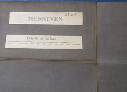 Messines - Mesen - Stafkaart 19e E - Met Wijtschate Wulvergem Waasten Warneton Hollebeke Ploegsteert - Topographical Maps