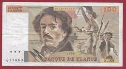 """100 Francs """"Delacroix"""" 1986----ALPH. N.106-- DANS L 'ETAT - 100 F 1978-1995 ''Delacroix''"""