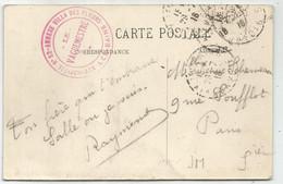 SAVOIE CACHET ROUGE AIX LES BAINS HOPITAL N°52 ANNEXE VILLA DES FLEURS LE VAGUEMESTRE 1916 CARTE VILLA DES FLEURS - Guerra De 1914-18