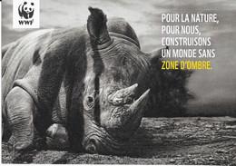 Dépliant 4 Volets Rhinocéros WWF. (Voir Commentaires) - W.W.F.