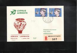 Cyprus 1978 Cyprus Airways First Flight Zuerich - Larnaca Interesting Letter - Cipro