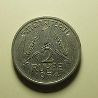 India 1/2 Rupee 1954 - India