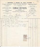 1911 - MACHINES A COUDRE DE TOUS SYSTEMES - Lits En Cuivre - Sommiers - Camille BRUNIQUEL à MAZAMET (TARN) - 1900 – 1949