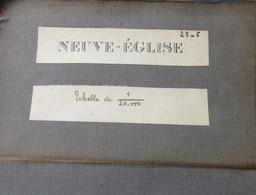 Nieuwkerke - Stafkaart 1883 - Met Westnieuwkerke Dranouter Kemmel Westouter Loker Scherpeberg Rodeberg De Klijte - Topographical Maps