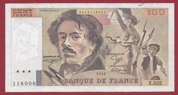 "100 Francs ""Delacroix"" 1991----ALPH. S.202-- DANS L 'ETAT - 1962-1997 ''Francs''"