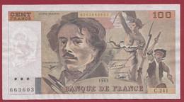 "100 Francs ""Delacroix"" 1993----ALPH. C.241-- DANS L 'ETAT - 1962-1997 ''Francs''"