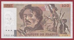 "100 Francs ""Delacroix"" 1994----ALPH. J.279-- DANS L 'ETAT - 1962-1997 ''Francs''"