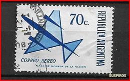 ARGENTINA 1970  Aerei Stilizzati - NO PHOSFO - Argentina