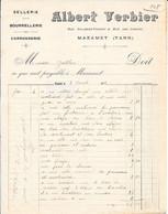 1916 - SELLERIE - BOURRELLERIE - CAROSSERIE  Albert VERBIER - Rue Galibert-Ferret  & Rue Des Cordes - MAZAMET (TARN) - Ambachten