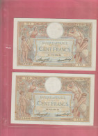 2 BILLETS DE 100 FRANCS LOM DU 8.11.1934 ET 22.3.1934 - 1871-1952 Circulated During XXth