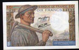 Billet 10 Francs Mineur, 26=11=1942 - 1871-1952 Antichi Franchi Circolanti Nel XX Secolo