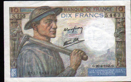 Billet 10 Francs Mineur, 26=4=1945 - 1871-1952 Antichi Franchi Circolanti Nel XX Secolo