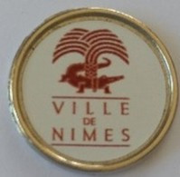 Jeton De Caddie - Ville De NÎMES 30 - En Métal - - Trolley Token/Shopping Trolley Chip