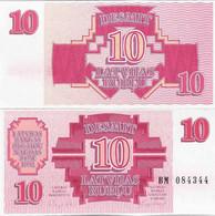 Latvia 1992 - 10 Rublu - Pick 38 UNC - Latvia