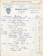 1929 - Equipement Electrique  - Dépôt  Batteries Tem Et Dinin - Stock MARCHAL - Charles PEY 1,3, Rue Montplaisir MAZAMET - Elektriciteit En Gas