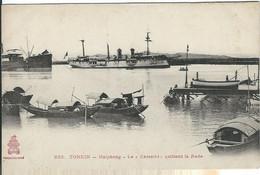 """VIET-NAM : Tonkin, Haiphong, Le """"Kersaint"""" Quittant La Rade - Vietnam"""