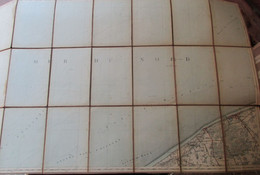 """Blankenberge - Stafkaart - Einde 19"""" Eeuw - Met Wenduine - Uitkerke - Blankenberge - Nieuwmunster - Topographical Maps"""