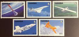 Gambia 1988 Aviation Anniversaries Aircraft MNH - Gambia (1965-...)