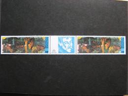 Polynésie: TB Paire Avec Vignette Centrale PA N° 186A , Neuve XX . - Unused Stamps