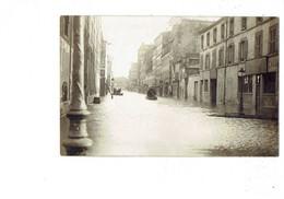 Carte Photo Non Située - Inondations - MAGASIN Peinture - Barque - Tonneau - - Inondazioni