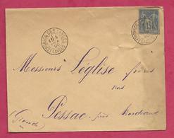 Landes-Enveloppe Avec Cachet à Date De Levignacq Des Landes - Marcofilie (Brieven)