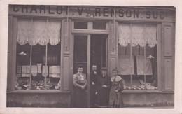 Magasin Charlot V. Renson Suc. - Animé - Carte-photo - Posté à Chalons S/Marne - Tiendas
