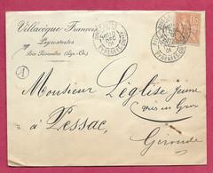 Pyrénées Orientales-Enveloppe Avec Cachet à Date De Rivesaltes - Marcofilie (Brieven)