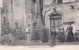04 / VACHERES / PLACE DE LA MAIRIE / MAGNIFIQUE CARTE / CIRC 1911 - Andere Gemeenten